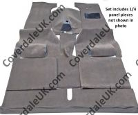Rover P3 60/75 Full Felted/webbing as original 1948 to 1949 Carpet Set - Wessex Wool Range
